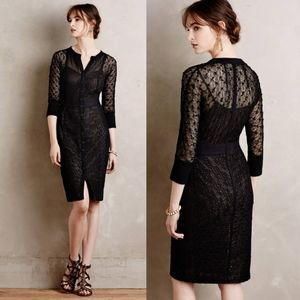 Anthropologie Byron Lars Mona Black Lace Dress 0